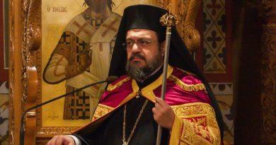 Ο  Μητροπολίτης Μεσσηνίας στις Ι. Μονές Δήμιοβας καί Βουλκάνου για τον εορτασμό της Παναγίας