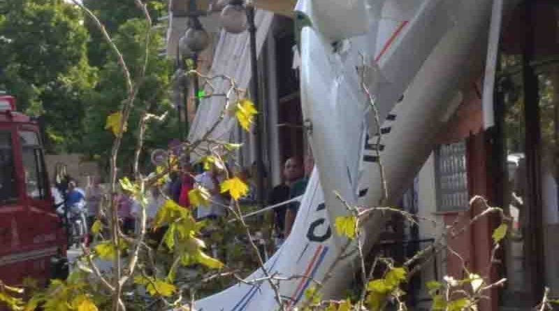Πτώση μονοκινητήριου αεροπλάνου στην Πρώτη Σερρών