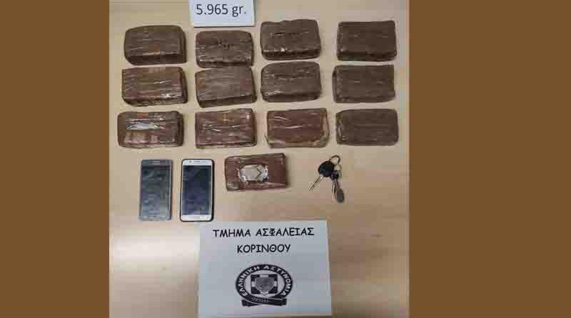 Συνελήφθησαν δύο άτομα για ναρκωτικά στην Κορινθία