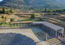 """Εκδήλωση απόδοσης στο κοινό του νέου στεγάστρου  της Αρχαίας Μεσσήνης. &  Εγκαίνια της έκθεσης """"ΑΓΟΡΑ, 11 Γλύπτες στην αρχαία Μεσσήνη"""""""